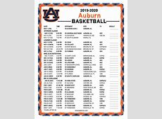 auburn tigers 2020 printable football schedule