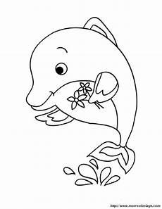 colorare delfino disegno delfino con fiori