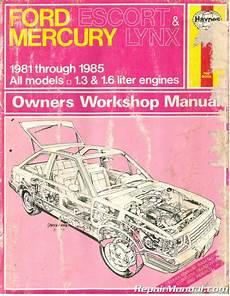 service manuals schematics 1986 mercury lynx transmission control haynes ford escort and mercury lynx automotive repair manual 1981 1985 used
