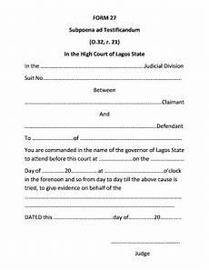 subpoena ad testificandum new york sle fill online printable fillable blank pdffiller