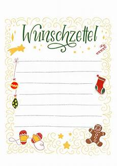 Malvorlagen Weihnachten Wunschzettel Wunschzettel Vorlage Zum Ausdrucken Bunte Galerie