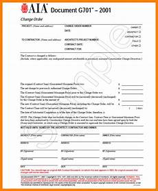 aia form aia change order form template business