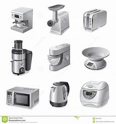 Kitchen Electronics List by Kitchen Appliances Icon Set Stock Illustration