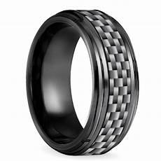 beveled carbon fiber men s wedding ring in black titanium