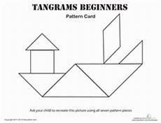 Tangram Kinder Malvorlagen Easy Tangrams Printable Tangram Math Worksheets