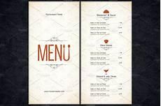 hotel menu card template free restaurant menu template card templates creative market