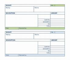 free receipt template doc the proper receipt format for payment received and general