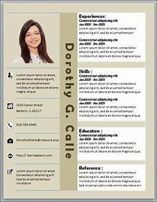 creative elegant resume template microsoft word downloadable customized editable vertical