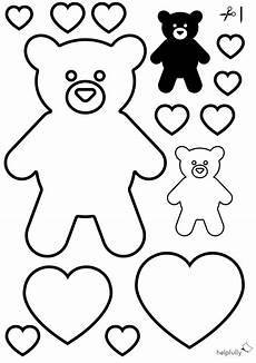 Vorlagen Herzen Malvorlagen Ninjago Ausmalbild Quot Teddyb 228 R Herzen Quot Zum Ausschneiden In 2020
