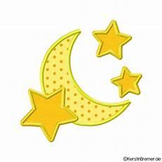 Sterne Und Mond Malvorlagen Mond Und Sterne Applikation Stickdatei Kerstinbremer De