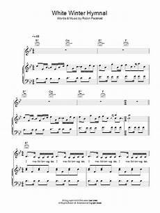 white winter hymnal sheet direct
