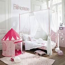 letto baldacchino maison du monde letto a baldacchino rosa in metallo 90x190 cm eglantine