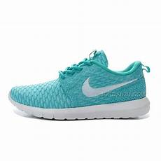 womens nike flyknit roshe run shoes sky blue white price