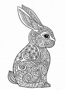 Ausmalbilder Hase Mandala Rabbit Therapy Coloring Pages Bunny Coloring Pages