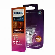 philips warm glow gu10 philips led spot warmglow gu10 4 5w wie 35 watt 245