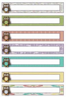 owl theme blank file folder label template freebie http theorganizedclassroomblog com