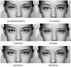 Augenbrauen Formen Gesichtsform - how does different eyebrows change the same alldaychic