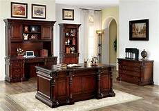 executive home office furniture sets roosevelt cm dk6252d rectangular office desk in cherry w