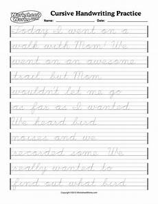 free worksheets on cursive handwriting 21801 pin on
