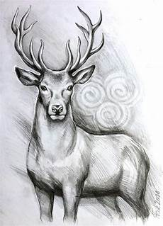 Home Wall Decor Drawing Ideas by Original Deer Stag Pencil Drawing Graphite Home