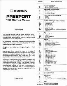how to download repair manuals 1997 honda passport electronic valve timing 1997 honda passport repair shop manual original
