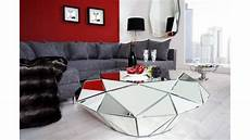 table basse miroir table basse en miroir diamant multiples facettes en
