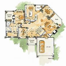 5 bed mountain home plan with finished walkout basement