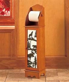 Northwoods Wildlife Moose Lodge Wooden Toilet Paper