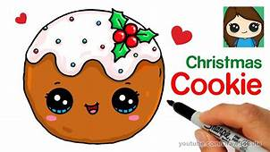 How To Draw A Cookie For Christmas Easy And Cute – Kids