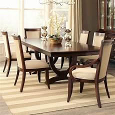 elegant classic modern 7 piece formal dining table walnut uphoslered chairs ebay