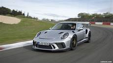2019 porsche 911 gt3 rs color gt silver front three