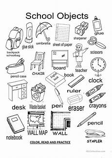 worksheets classroom objects 18220 school objects worksheet free esl projectable worksheets made by teachers