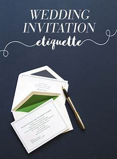 What Needs To Go In A Wedding Invitation