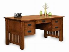 solid wood home office furniture amish mission craftsman executive computer desk office