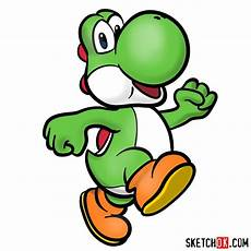 how to draw yoshi from mario step by step