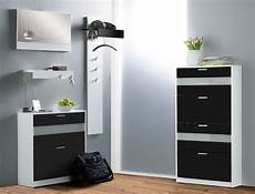 garderoben set nando 5 teilig schwarz hochglanz paneel