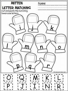 letter matching printable worksheets 24293 cut and paste the mitten and activities on
