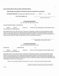 durable general power of attorney statutory short form new york free download