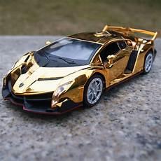 diecast lamborghini veneno lamborghini veneno alloy diecast cars 1 32 toys gifts golden yellow plated ebay