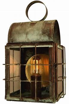 back bay wall sconce copper lantern nautical outdoor light