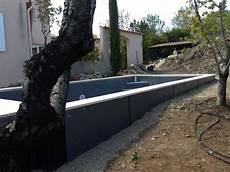 Piscine En Beton Semi Enterrée Construction Piscine B 233 Ton Semi Enterr 233 E Par Aquarev