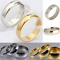 traditional wedding ring new mens gold silver stainless steel classic