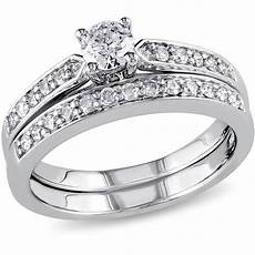 wedding rings sets at walmart miabella 1 2 carat t w diamond sterling silver bridal