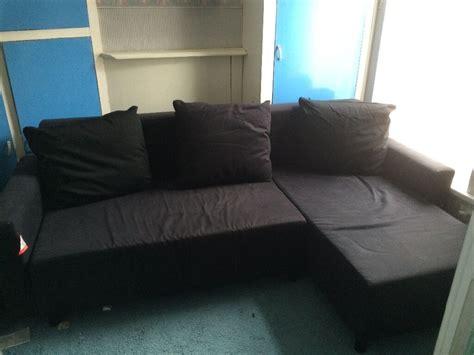 Copridivano Ikea Lugnvik : Ikea Lugnvik Sofa Bed With Storage Black Reduced To £100