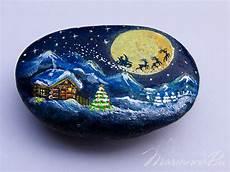 Steine Bemalen Weihnachten - painted ornaments painted house ornament