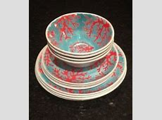 ON SALE   Cynthia Rowley Melamine Coral Reef Dinnerware 12