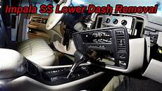 how remove dash on a impala project thedetailss com double din lower dash removal youtube