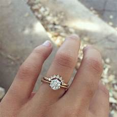 curved band with solitaire engagement ring wedding