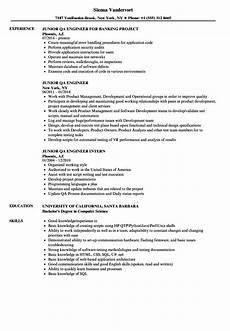 junior qa engineer resume sles velvet jobs