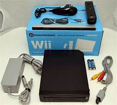 buy wii console nintendo wii black home gaming console system bundle rvl